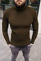 Гольф мужской базовый цвета хаки