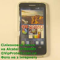 Alcatel 8008D, белый_силиконовый чехол, фото 1