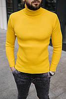 Гольф мужской базовый желтого цвета