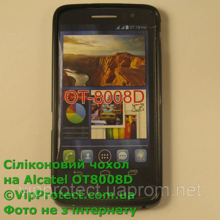 Alcatel 8008D, черный_силиконовый чехол
