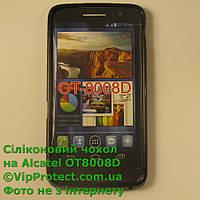 Alcatel 8008D, черный_силиконовый чехол, фото 1