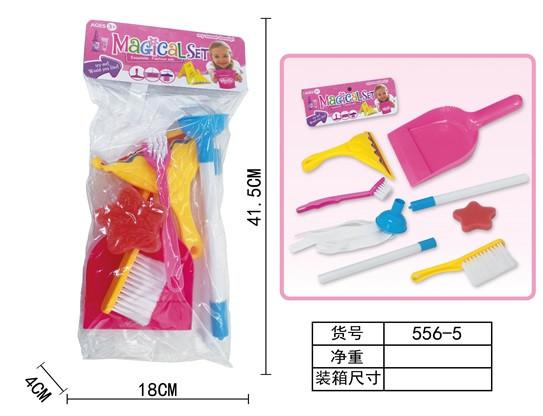 Набор для уборки 556-5 (144 шт|2) шетки, совок, мочалка, в пакете 18*5*11,5 см
