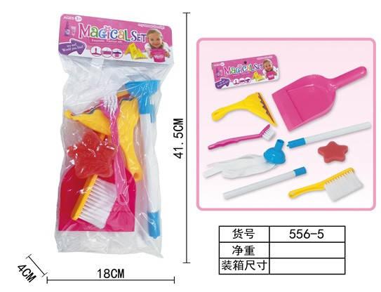 Набор для уборки 556-5 (144 шт|2) шетки, совок, мочалка, в пакете 18*5*11,5 см, фото 2