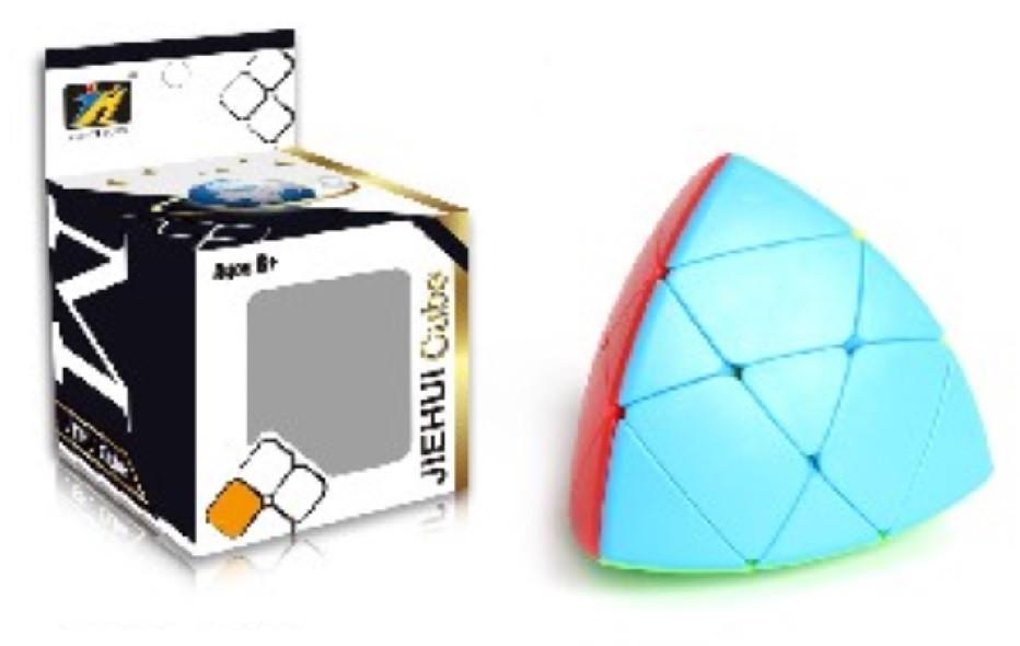 Кубик логика 497 (144шт|2)треугольный, в коробке 7*7*10см