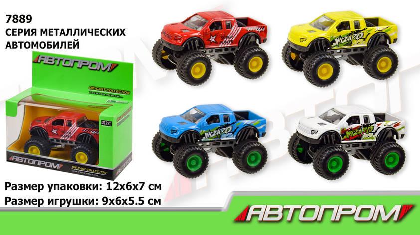 """Машина метал 7889 (96шт   2) """"АВТОПРОМ"""", 1: 50,4 кольору, фото 2"""