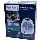 """Підлоговий тепловентилятор обігрівач """"Rainberg"""" RB-164, 1000/2000 Вт., 3 режими роботи., фото 7"""