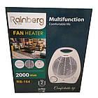 """Підлоговий тепловентилятор обігрівач """"Rainberg"""" RB-164, 1000/2000 Вт., 3 режими роботи., фото 3"""