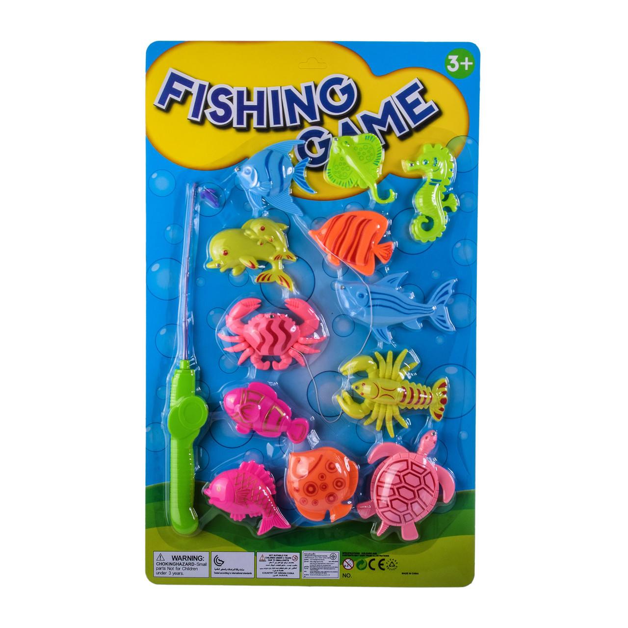 Рыбалка 992 (120шт 2)магнит, удочка, рыбки, на планшетке – 30*2*49 см, р-р удочки – 32 см