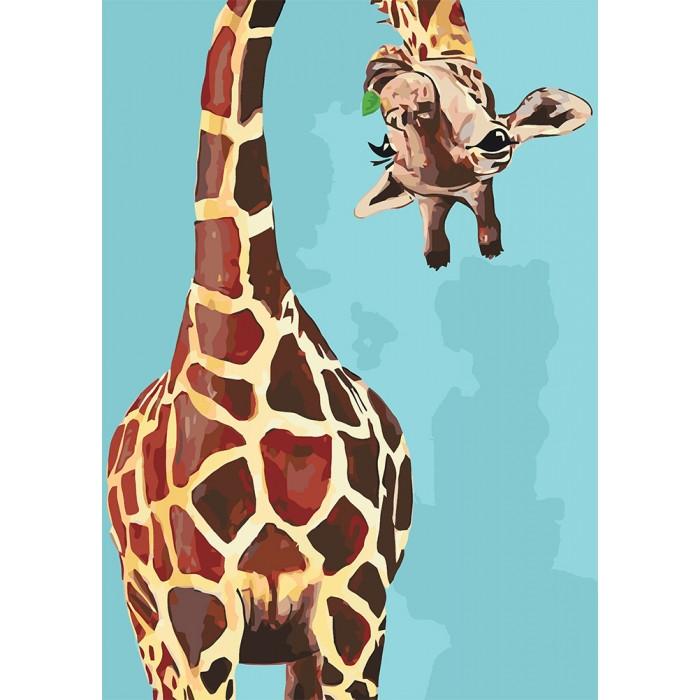 """Набір для розпису по номерах. Тварини, птахи """"Веселий жираф"""" 35*50см"""