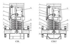 Вертикальный многоступенчатый центробежный электронасос CDLF 4-14 FSWSR, фото 3