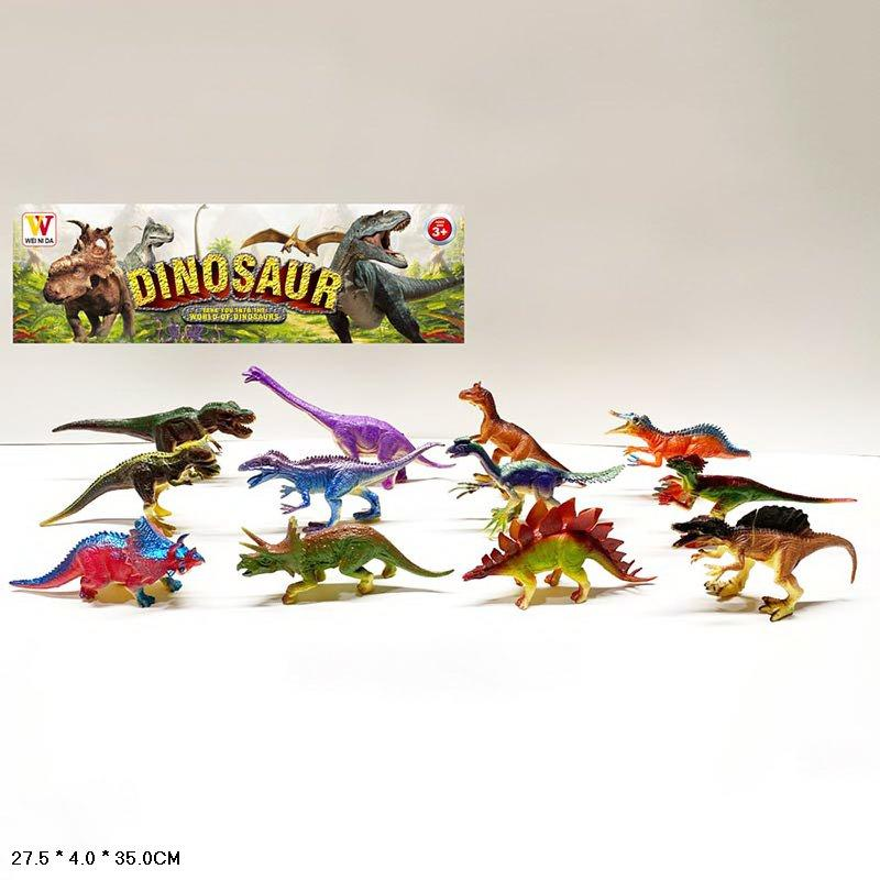 Тварини пласт. 2062B (60шт | 2) динозаври, 12 шт в наборі