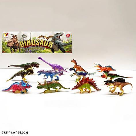 Тварини пласт. 2062B (60шт | 2) динозаври, 12 шт в наборі, фото 2