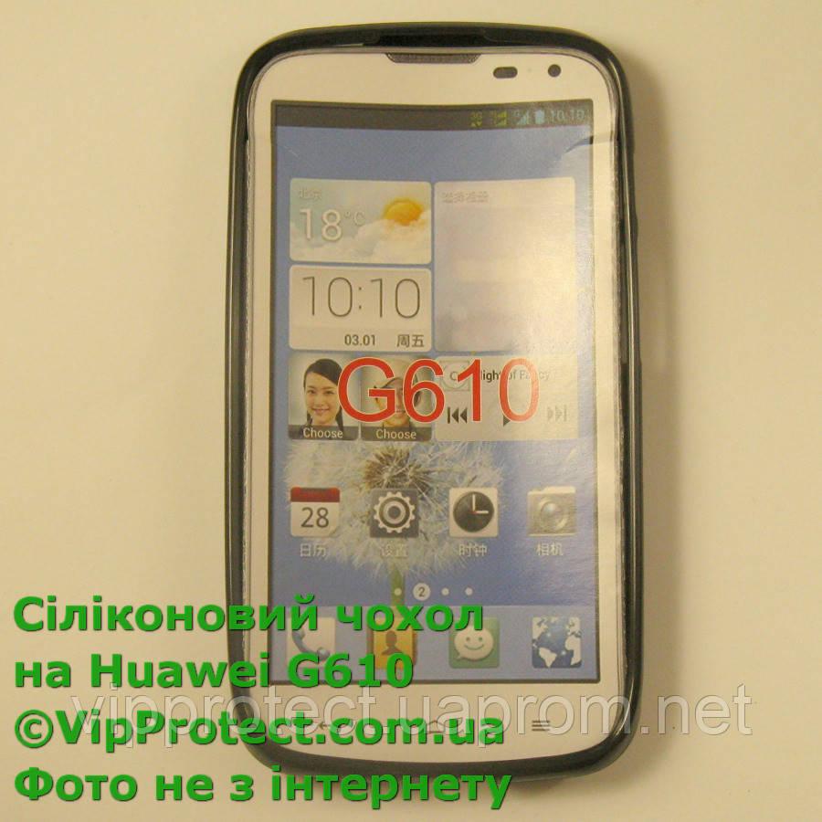 Huawei G610, черный_силиконовый чехол