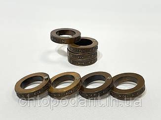 Кільце чоловіча антистрес складне кругле колір бронза код 35-0102