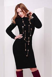В'язане жіноче чорне плаття Palmira