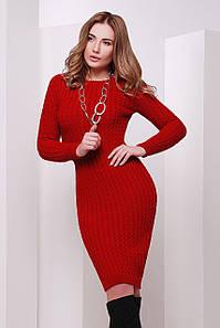 В'язане жіноче червоне плаття Palmira