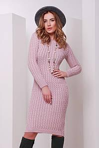В'язане жіноче рожеве плаття Palmira, пудра