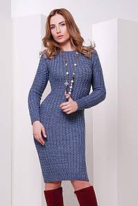 В'язане жіноче синє плаття Palmira, джинс