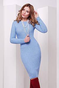 В'язане жіноче блакитне плаття Palmira