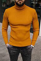 Гольф мужской базовый оранжевого цвета