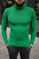 Гольф мужской базовый зеленого цвета