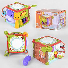 Інтерактивна розвиваюча іграшка «Музичний куб» КК 2705 (музичні інструменти, мелодії, звуки)