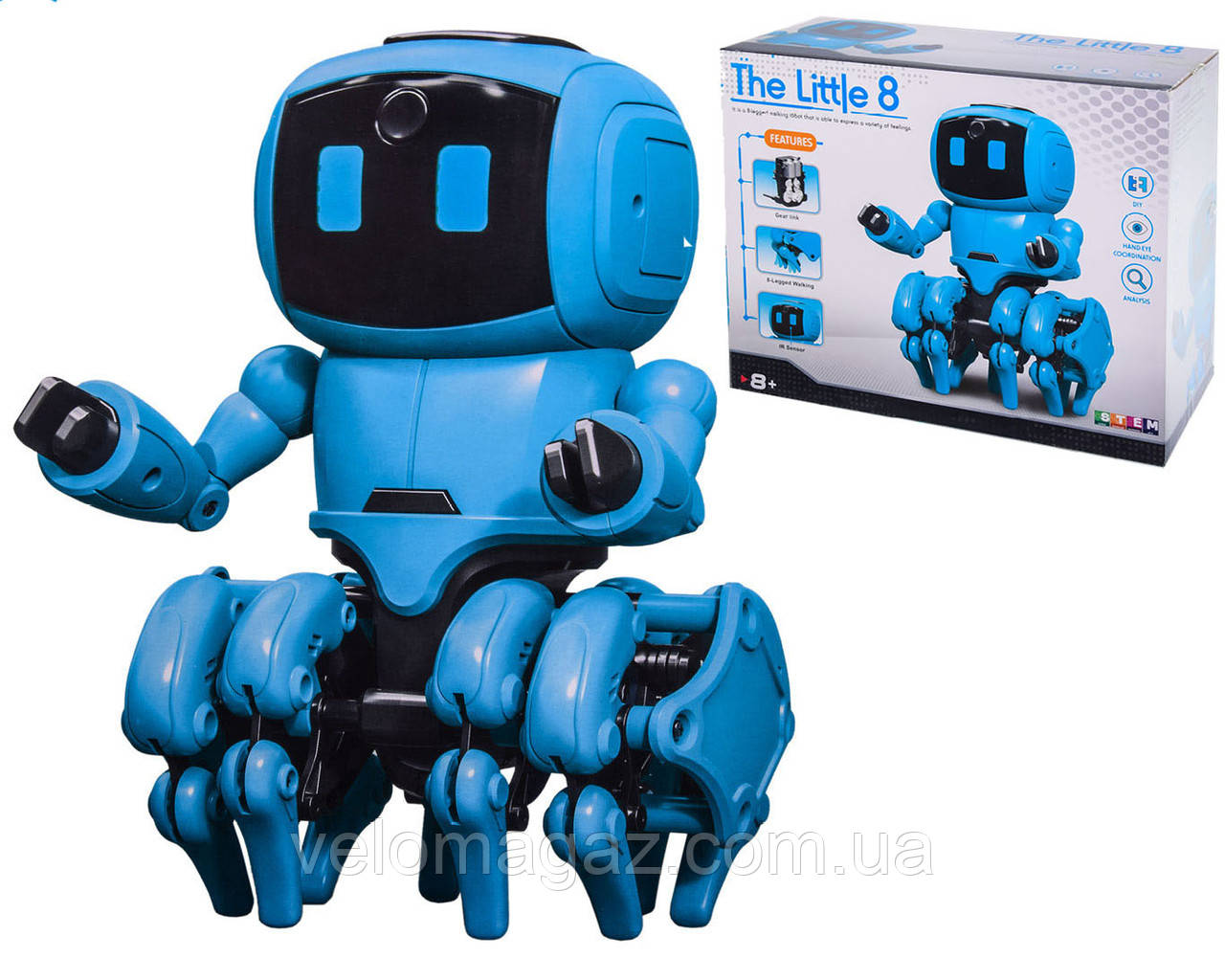 Конструктор Интерактивный Робот на сенсорном управлении 962, 205 деталей