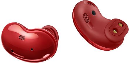 Беспроводные наушники Samsung galaxy buds Live вкладыши Bluetooth гарнитура для телефона iphone, android red, фото 2