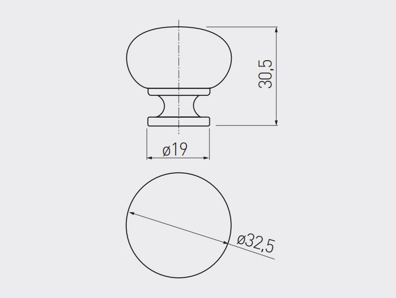 Ручка меблева стальна (кнопка)  BERGAMO чорний хром