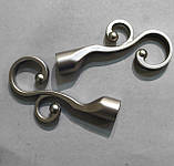 Карниз для штор металлический ФЛОРЕС однорядный 16мм 2.4м Сатин никель, фото 2