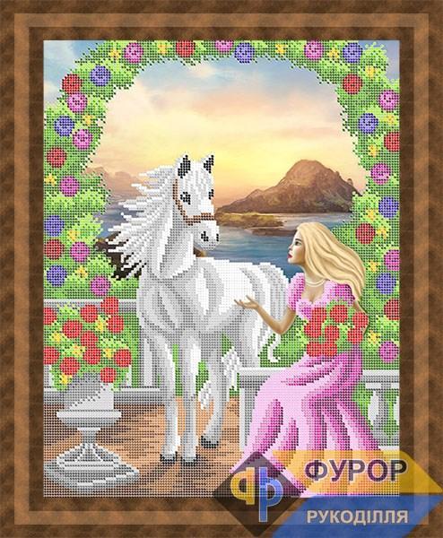 Схема для вишивки бісером картини Принцеса і кінь (ЛБч3-130)