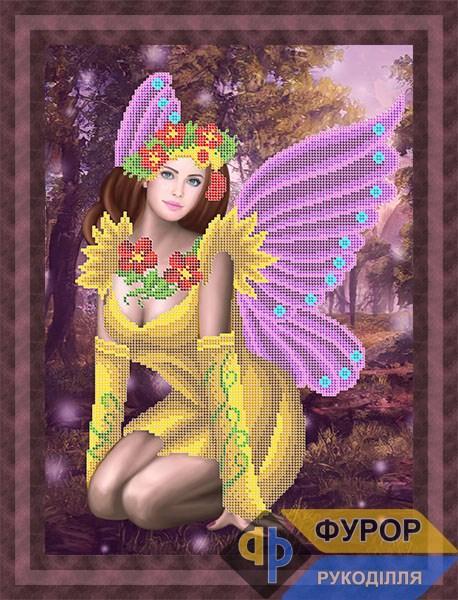 Схема для вишивки бісером картини Лісова фея (ФБч3-007)