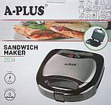 Бутербродниця А-Plus 2034 / гриль / сендвичница / тостер А-Плюс, фото 7