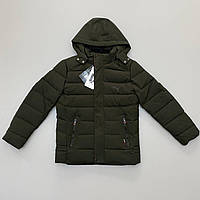 Куртка чоловіча Puma зимова кольору хакі