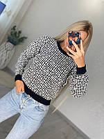 Стильный вязанный свитер Турция, фото 1