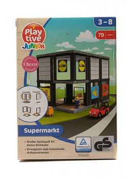 Конструктор для дерев'яної залізниці PlayTive Supermarkt 79 ел Німеччина ( Ikea, Hape, Brio )