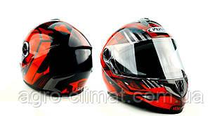 Шлем для мотоцикла HF - 122 BLACK IRON глянец