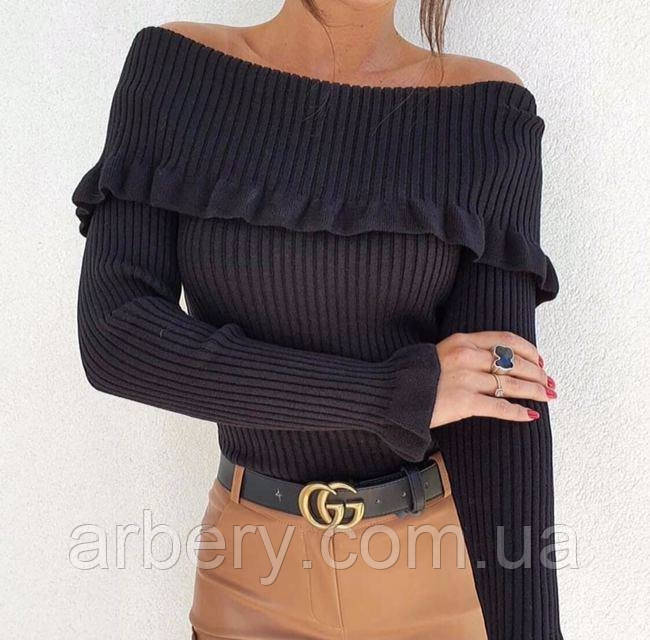 Вязанный свитерок с открытыми плечами Турция
