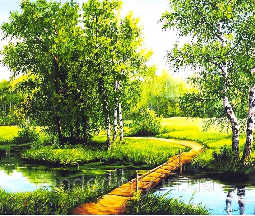 Алмазна Живопис 30*40 GM 73558 Місток через річку