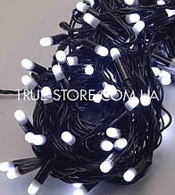 Вулична 100 LED 10м, чорний каучук 2.2 мм , білий
