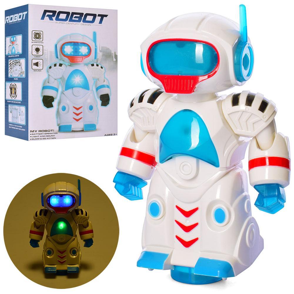 Робот FX2867  19см, муз, свет, ездит, на бат-ке, в кор-ке,14-20-8см