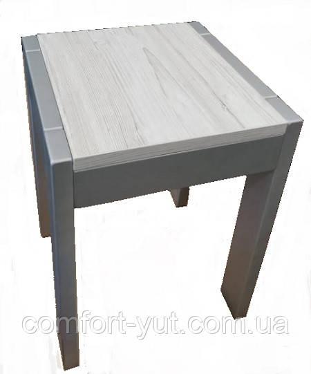 Табурет Слайдер дерев'яний сірий\Аляска