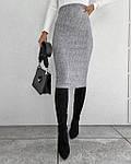 Женская юбка, трикотаж рубчик, р-р 42-44; 44-46 (серый), фото 2