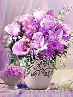 Алмазна мозаїка Лілії і троянди H8165 30*40см без рамки