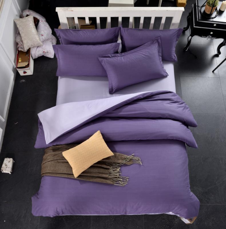 Комплект постільної білизни сімейний Bella Villa сатин фіолетовий