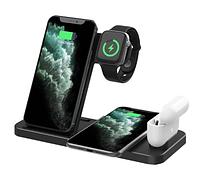Бездротовий зарядний пристрій 4 в 1 Qi 15 Вт для iPhone 12 11 Pro XS MAX XR X 8 Apple Watch SE 6 5 4 3 AirPods, фото 1