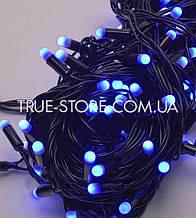 Гірлянда вулична 100 LED 10метров, каучук провід 2.2 мм, Синій колір