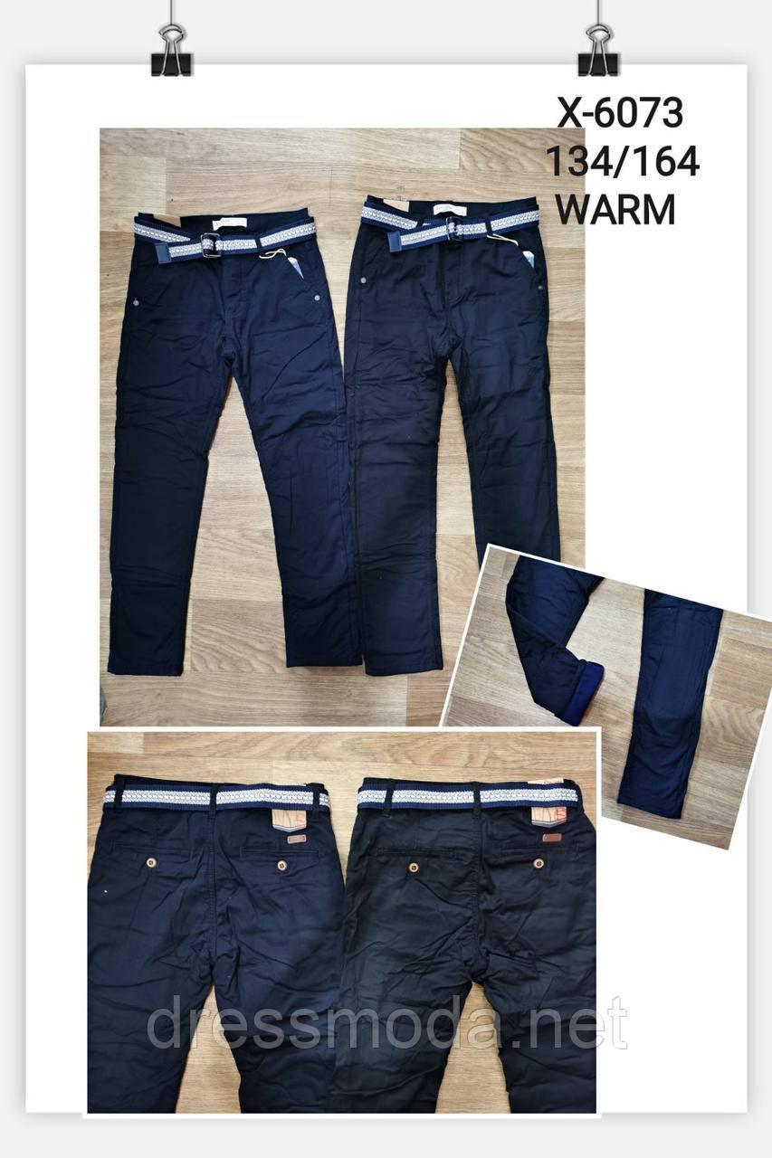 Котоновые брюки на флисе для мальчиков Goloxy 134-164p.p.