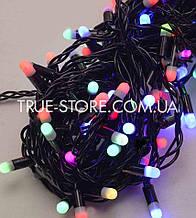 Гірлянда вулична 100 LED 10метров, каучук провід 2.2 мм, Мультик колір