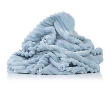 Відріз плюш Minky stripes блакитний 100х70 см
